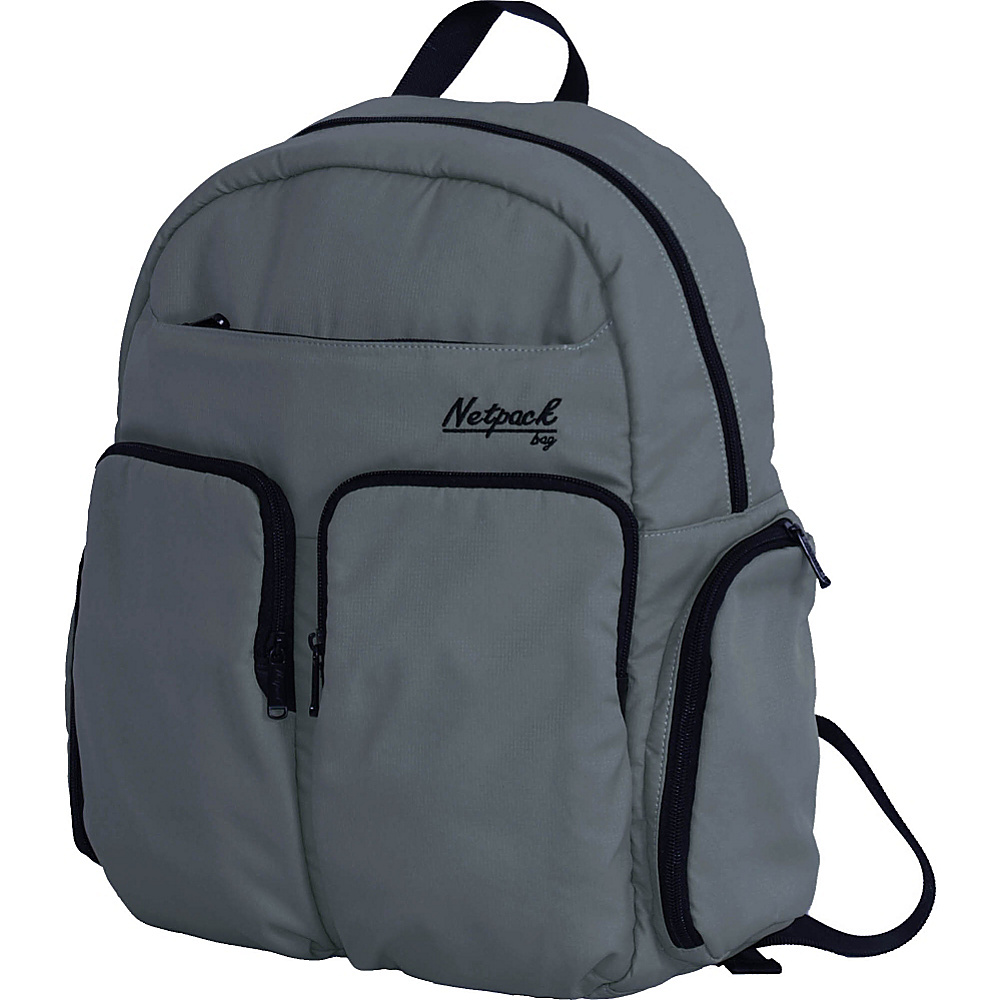 Netpack Soft Lightweight Day Pack with RFID Pocket Grey - Netpack Everyday Backpacks