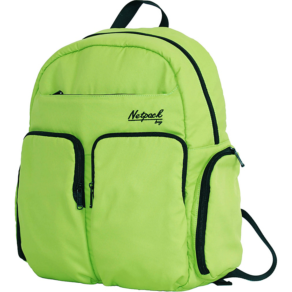 Netpack Soft Lightweight Day Pack with RFID Pocket Green - Netpack Everyday Backpacks