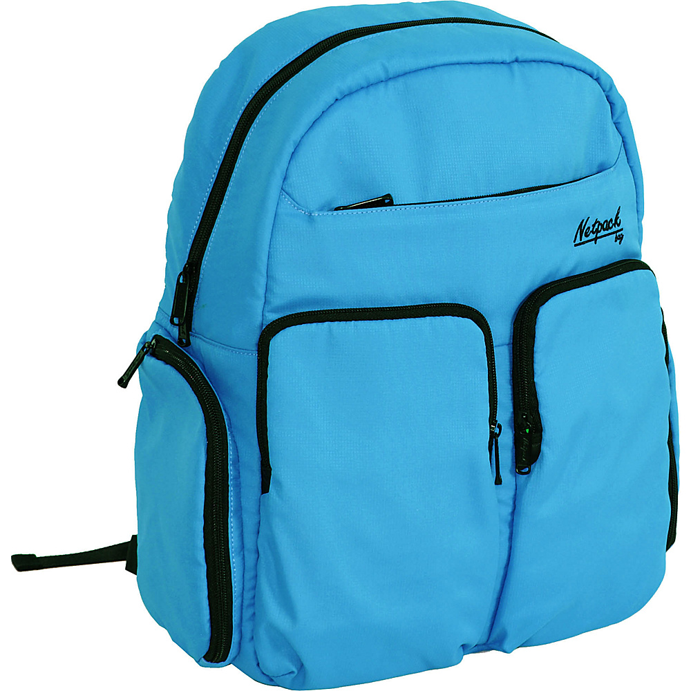 Netpack Soft Lightweight Day Pack with RFID Pocket Blue - Netpack Everyday Backpacks