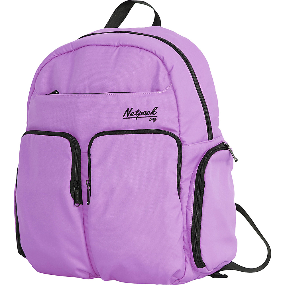 Netpack Soft Lightweight Day Pack with RFID Pocket Purple Netpack Everyday Backpacks
