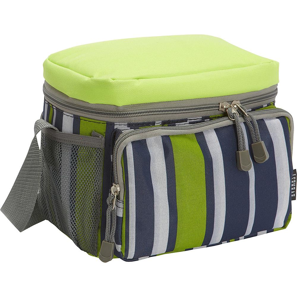 Everest Cooler/Lunch Bag Lime/Navy Stripe - Everest Travel Coolers - Travel Accessories, Travel Coolers
