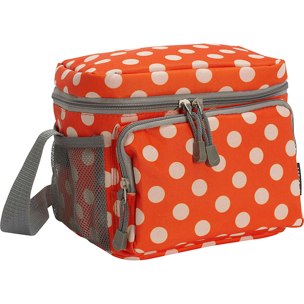 Everest Cooler/Lunch Bag Orange/White Dot - Everest Travel Coolers - Travel Accessories, Travel Coolers