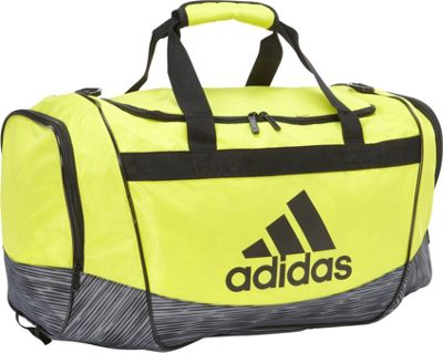 adidas Defender II Medium Duffel Shock Slime/Lo Stripe Grey/Black - adidas All Purpose Duffels