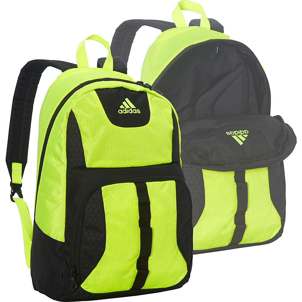 adidas Reversible Academic Backpack Black/Solar Yellow - adidas School & Day Hiking Backpacks