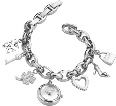 Image of Anne Klein Watches Charm Bracelet Watch Silver - Anne Klein Watches Watches