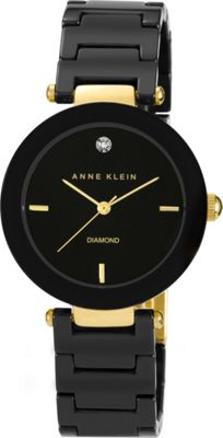 Anne Klein Watches Anne Klein Watches Diamond-Accented Ceramic Bracelet Watch Black - Anne Klein Watches Watches