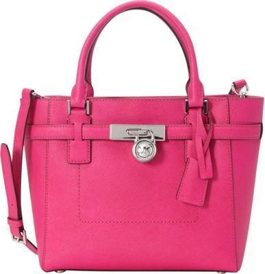 MICHAEL Michael Kors Hamilton Medium Top Zip Satchel Raspberry - MICHAEL Michael Kors Designer Handbags
