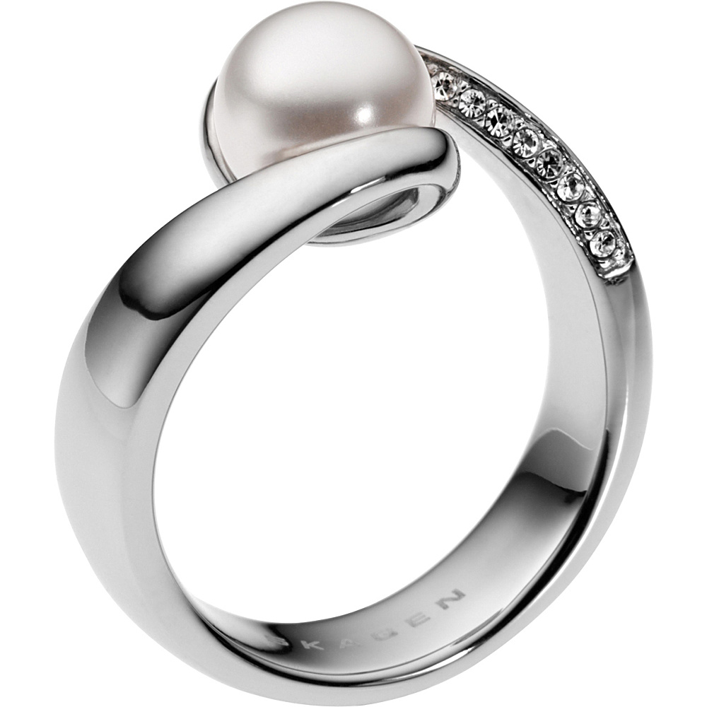 Skagen Agnethe Pearl Silver Tone Ring Silver 5.5 Skagen Other Fashion Accessories