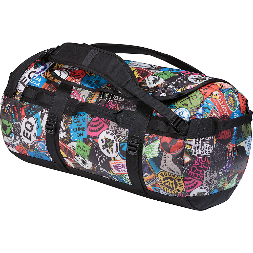 The North Face Base Camp Duffel Medium Tnf Red Sticker Bomb Print/Black - The North Face Outdoor Duffels - Duffels, Outdoor Duffels