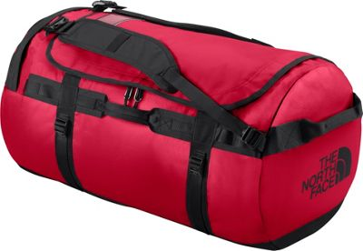 The North Face Base Camp Duffel Medium TNF Red/TNF Black [all-over emboss] - The North Face Outdoor Duffels