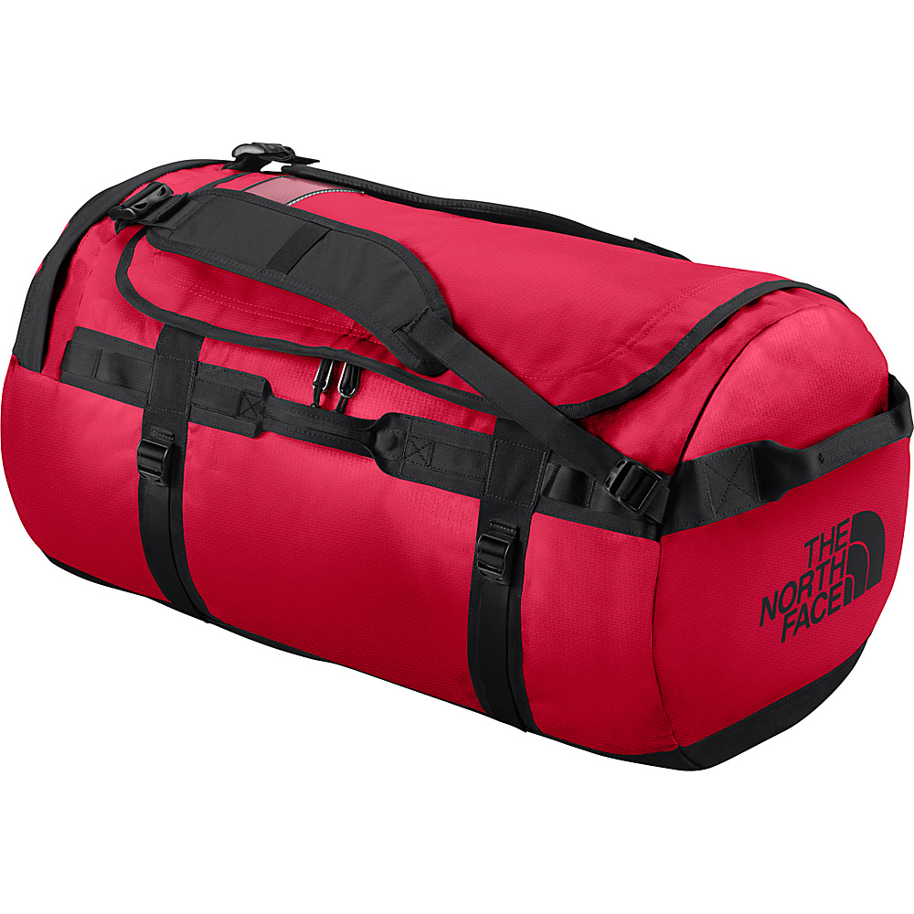 The North Face Base Camp Duffel Medium TNF Red/TNF Black [all-over emboss] - The North Face Outdoor Duffels - Duffels, Outdoor Duffels