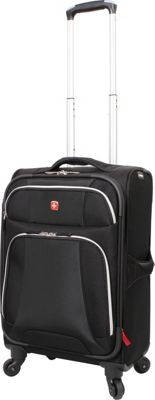 Wenger Travel Gear Monte Leone 20 inch Spinner Black - Wenger Travel Gear Softside Carry-On