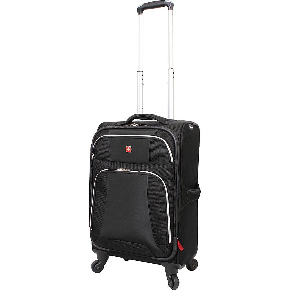 """Wenger Travel Gear Monte Leone 20"""" Spinner Black - Wenger Travel Gear Softside Carry-On"""