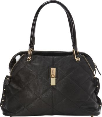 Tiffany & Fred Ashley Satchel Black/Black Patent - Tiffany & Fred Leather Handbags