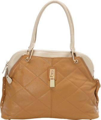 Tiffany & Fred Ashley Satchel Tan/Bone - Tiffany & Fred Leather Handbags
