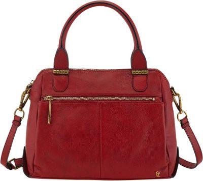 Elliott Lucca Olvera Metro Satchel Brick - Elliott Lucca Designer Handbags
