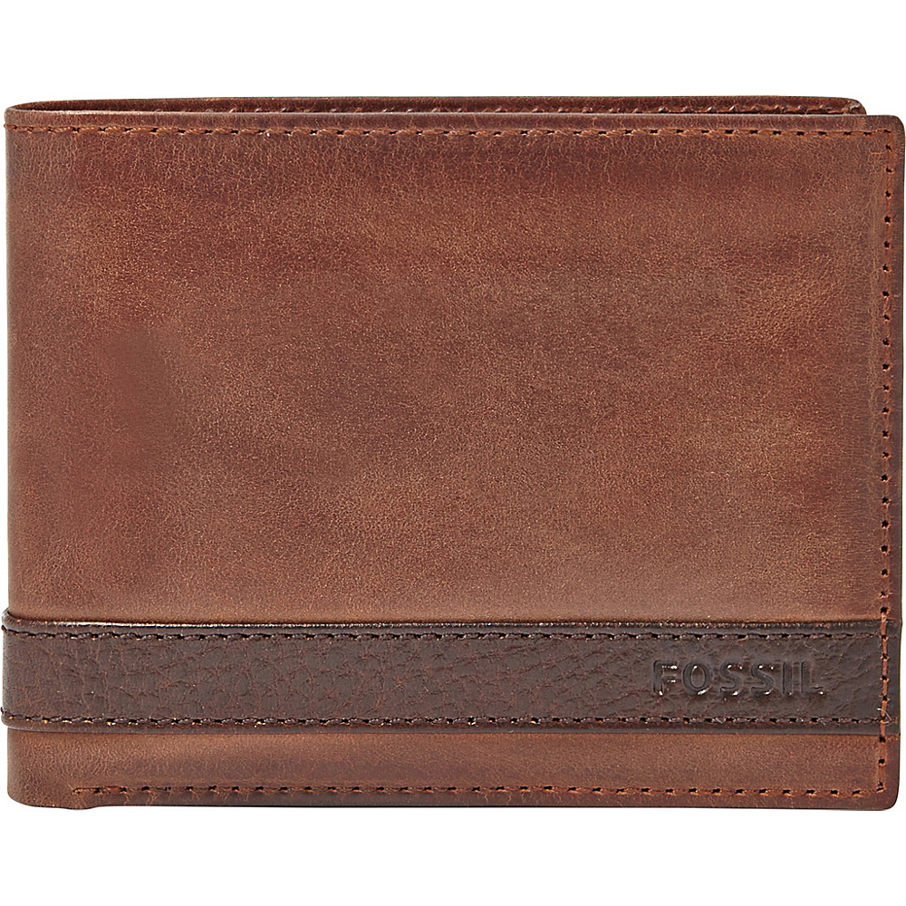 Fossil Quinn L-Zip Bifold Brown - Fossil Mens Wallets - Work Bags & Briefcases, Men's Wallets