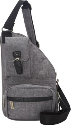 Sacs Collection by Annette Ferber Mini Metro Bag Expandable Charcoal - Sacs Collection by Annette Ferber Fabric Handbags