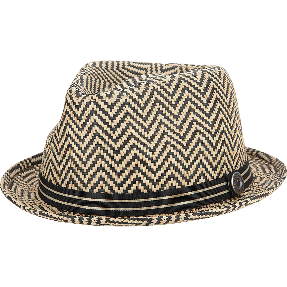 Ben Sherman Herringbone Straw Trilby Hat Brown Large Extra Large Ben Sherman Hats Gloves Scarves