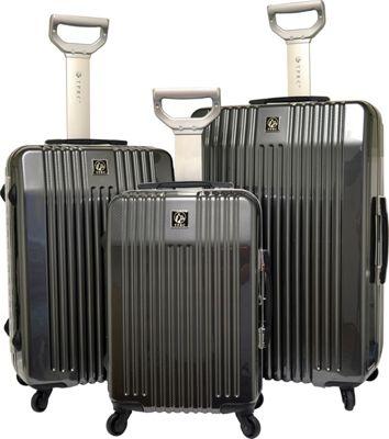 Travelers Club Luggage Jet set 2.0 3PC Hardside Luggage Set Black - Travelers Club Luggage Luggage Sets