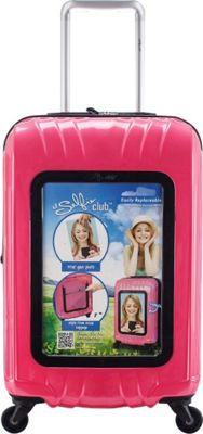 Travelers Club Luggage 20 inch Selfie Personalized Carry-On Pink - Travelers Club Luggage Hardside Carry-On