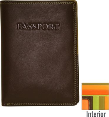 BelArno Leather Passport Wallet in Multi Color Combination Brown Combination - BelArno Travel Wallets