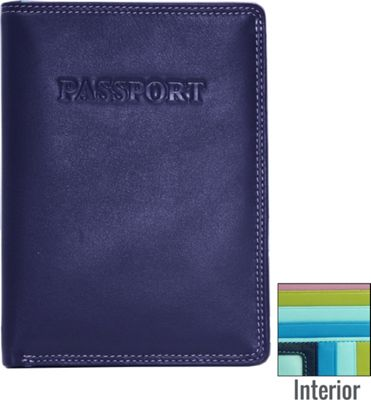BelArno BelArno Leather Passport Wallet in Multi Color Combination Blue Combination - BelArno Travel Wallets