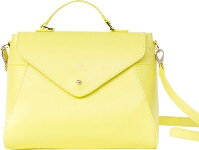 Paperthinks Top Handle Bag Limone - Paperthinks Leather Handbags