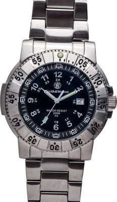 Smith & Wesson Watches Aviator Tritium H3 Watch and Stainless Steel Strap Black - Smith & Wesson Watches Watches