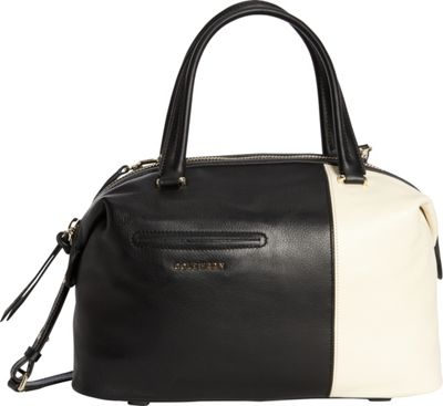 Cole Haan Omega Large Satchel Black/Ivory - Cole Haan Designer Handbags