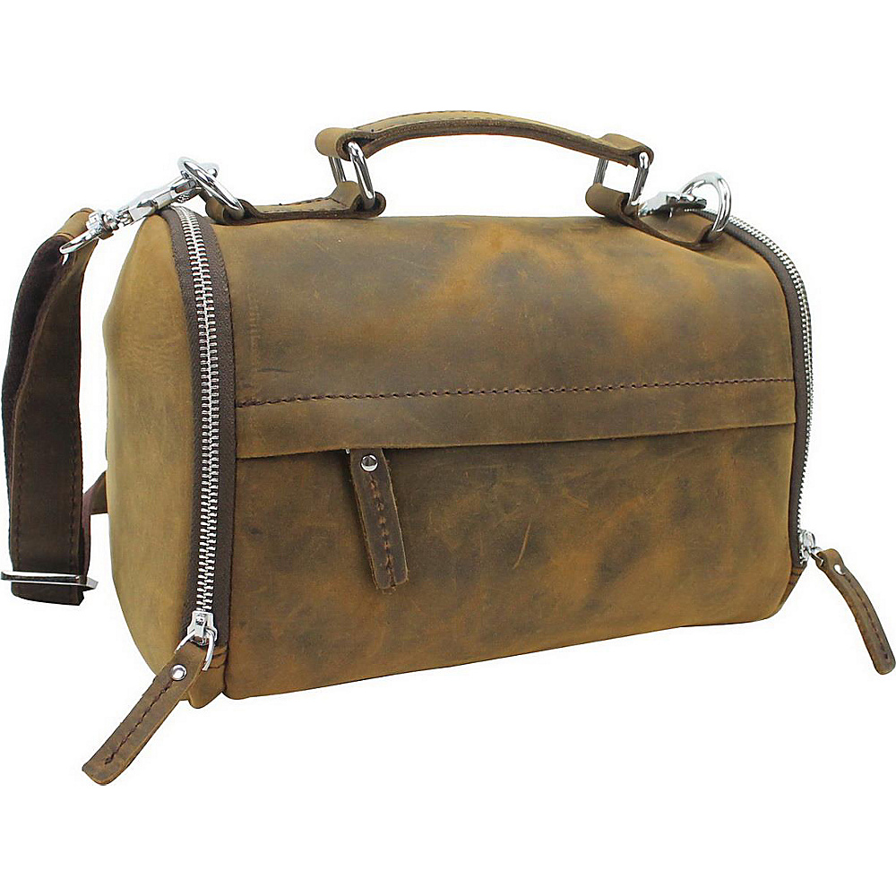 Vagabond Traveler 11 Mini Leather Duffle Handbag Vintage Brown - Vagabond Traveler Leather Handbags - Handbags, Leather Handbags