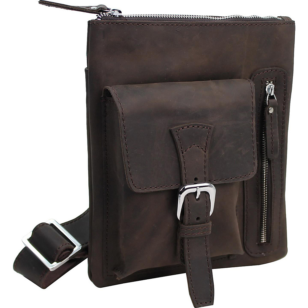 Vagabond Traveler 10 Vertical Leather Messenger Bag Distress - Vagabond Traveler Messenger Bags - Work Bags & Briefcases, Messenger Bags