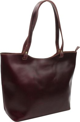 Vagabond Traveler 16.5 inch Large Leather Tote Wine Red - Vagabond Traveler Leather Handbags