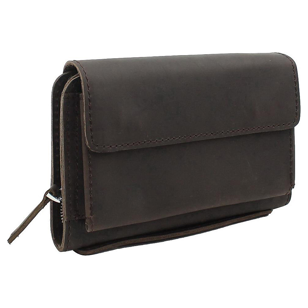 Vagabond Traveler 8.5 Large Leather Clutch Bag Dark Brown - Vagabond Traveler Leather Handbags - Handbags, Leather Handbags