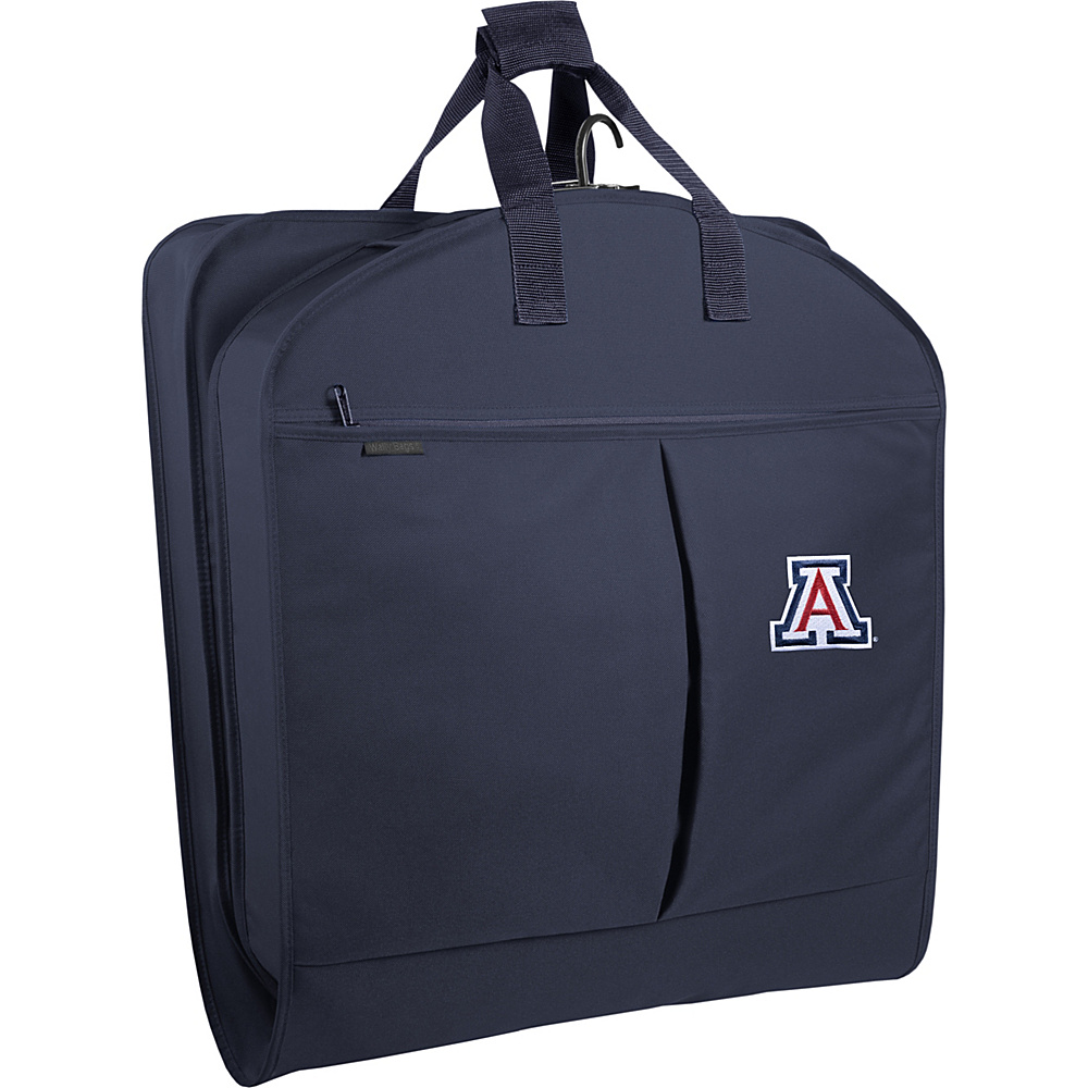 "Wally Bags Arizona Wildcats 40"" Suit Length Garment Bag with Two Pockets Navy - Wally Bags Garment Bags"