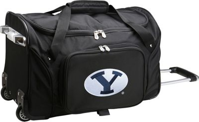 "Denco Sports Luggage NCAA 22"""" Rolling Duffel Brigham Young University Cougars - Denco Sports Luggage Softside Carry-On"
