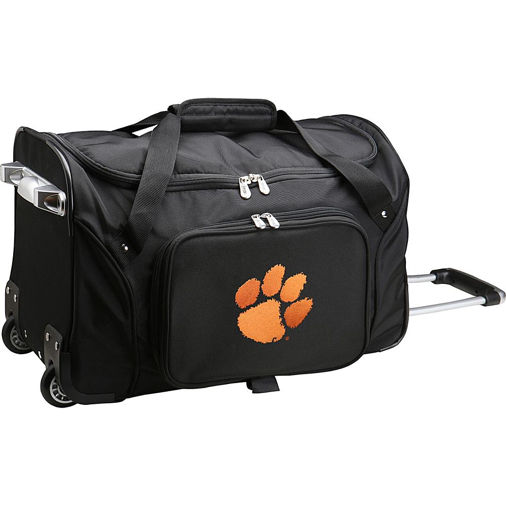 Denco Sports Luggage NCAA 22 Rolling Duffel Clemson University Tigers - Denco Sports Luggage Softside Carry-On - Luggage, Softside Carry-On