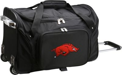 "Denco Sports Luggage NCAA 22"""" Rolling Duffel University of Arkansas Razorbacks - Denco Sports Luggage Softside Carry-On"