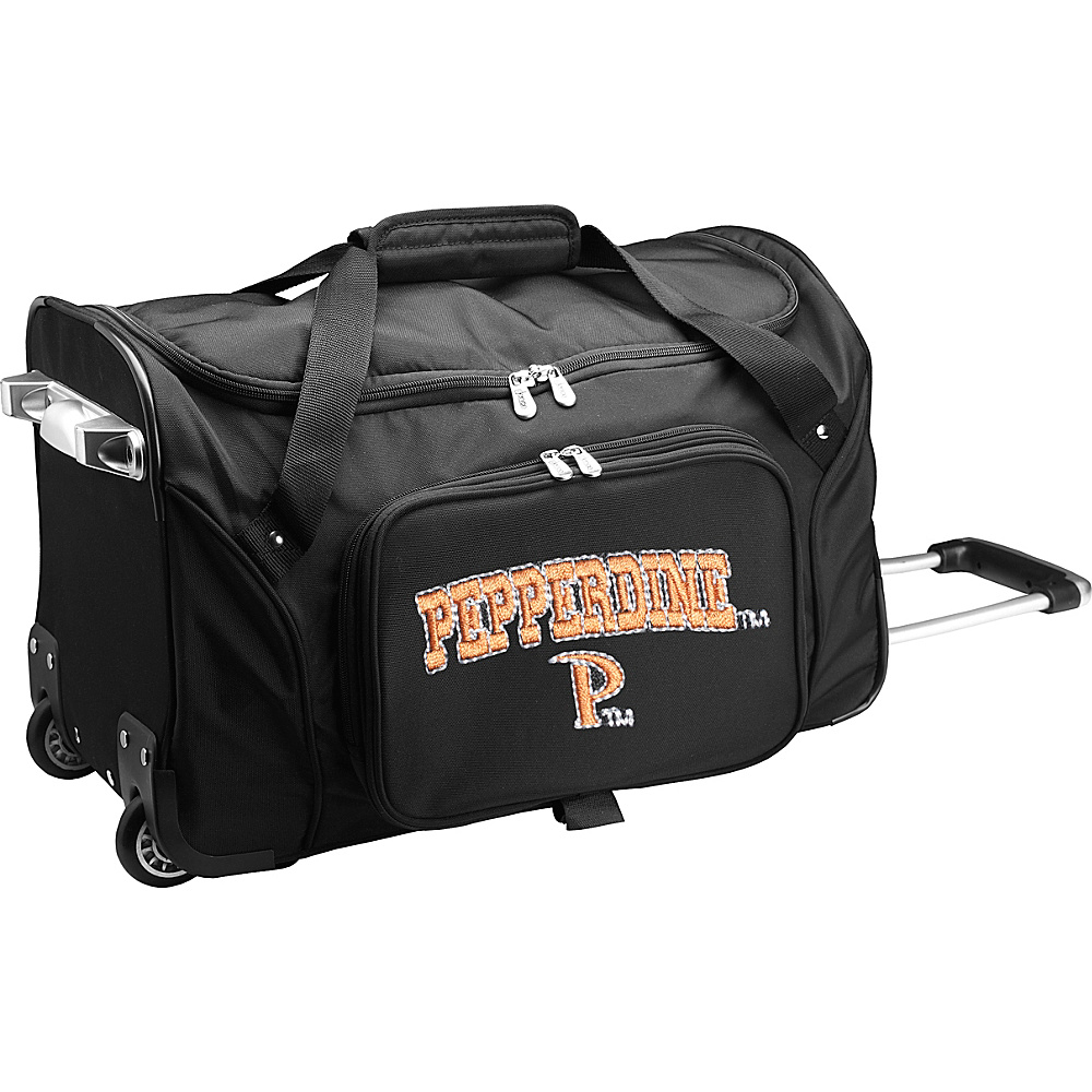 Denco Sports Luggage NCAA 22 Rolling Duffel Pepperdine University Waves - Denco Sports Luggage Softside Carry-On - Luggage, Softside Carry-On