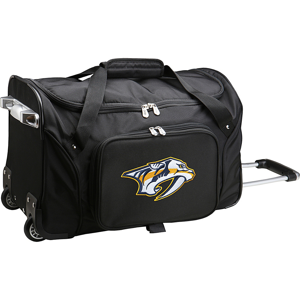 Denco Sports Luggage NHL 22 Rolling Duffel Nashville Predators - Denco Sports Luggage Rolling Duffels - Luggage, Rolling Duffels