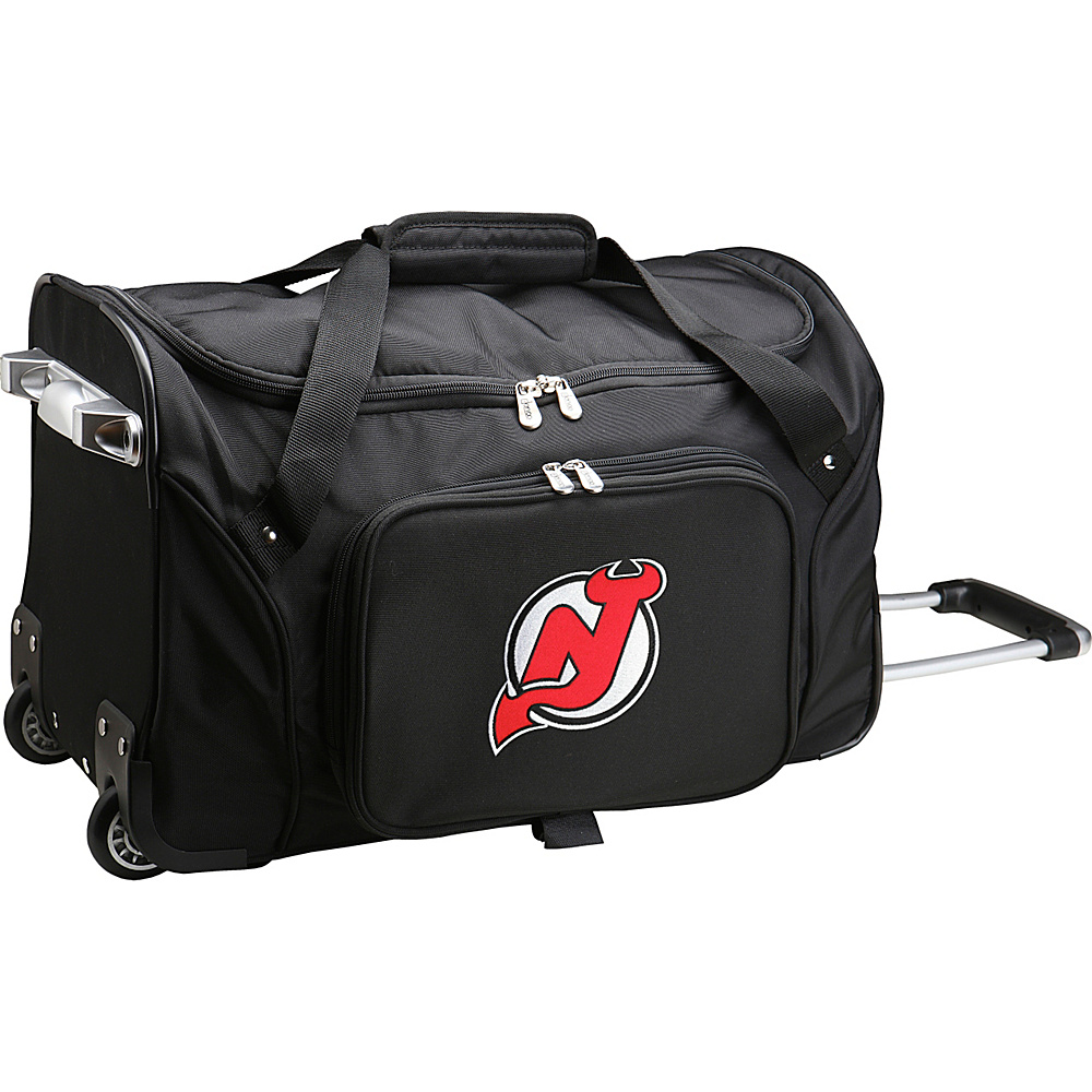 Denco Sports Luggage NHL 22 Rolling Duffel New Jersey Devils - Denco Sports Luggage Rolling Duffels - Luggage, Rolling Duffels