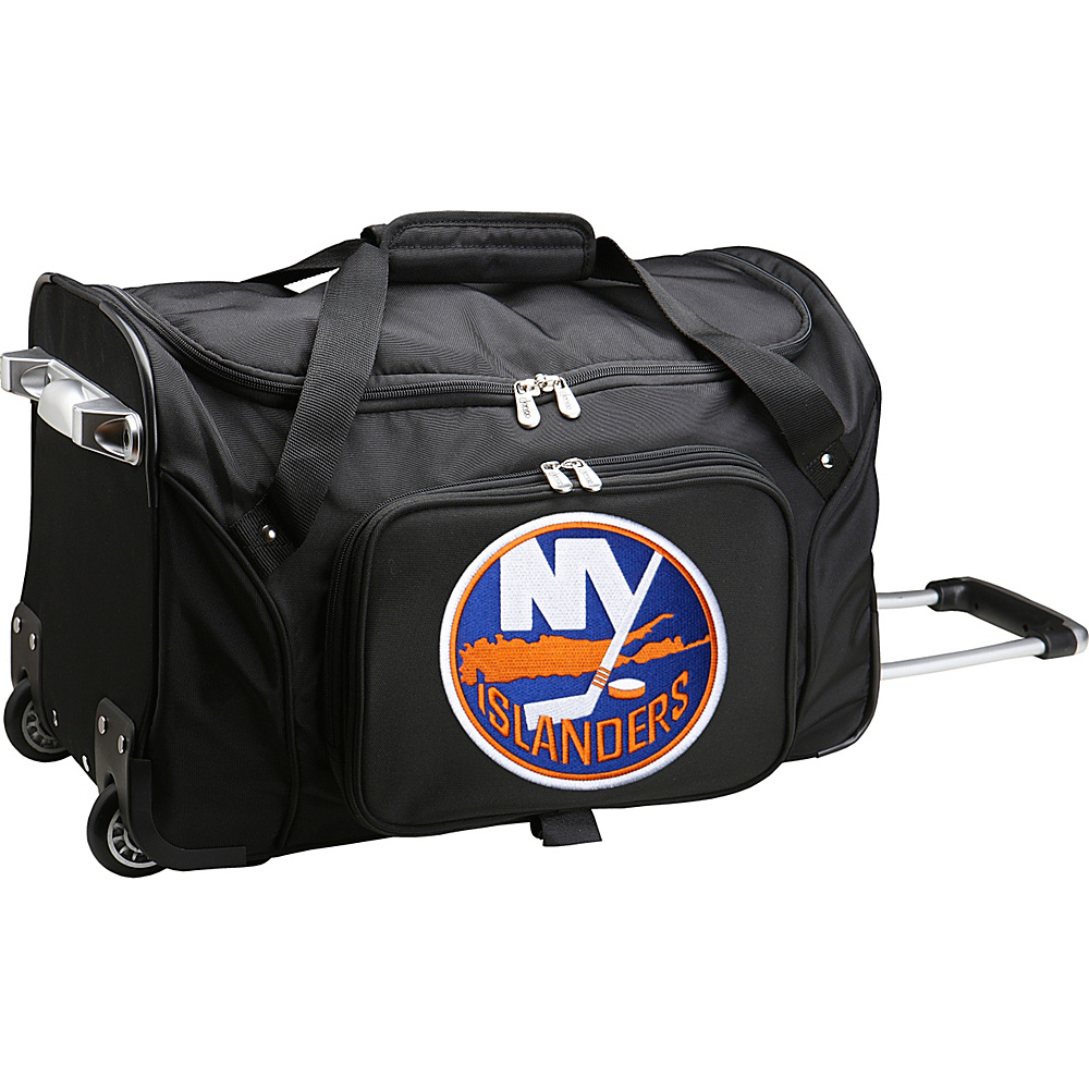 Denco Sports Luggage NHL 22 Rolling Duffel New York Islanders - Denco Sports Luggage Rolling Duffels - Luggage, Rolling Duffels