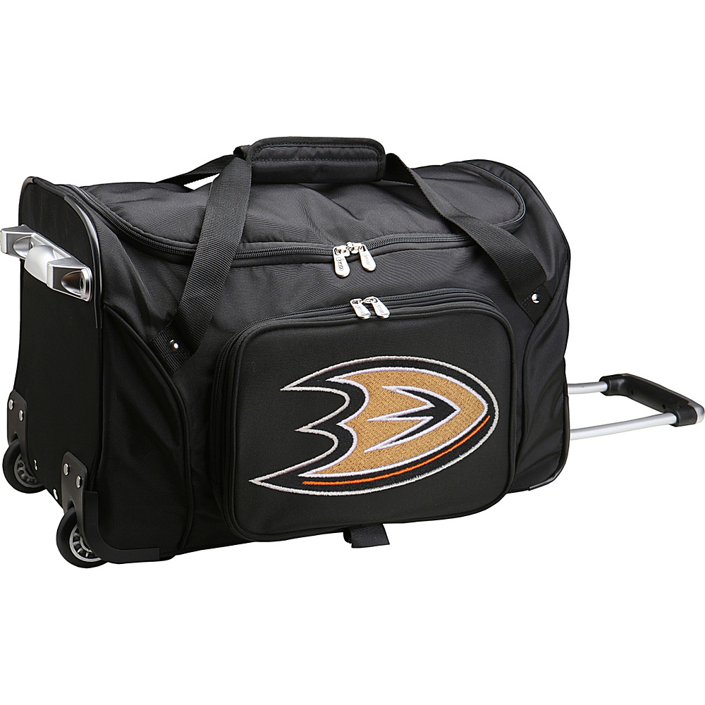 Denco Sports Luggage NHL 22 Rolling Duffel Anaheim Mighty Ducks - Denco Sports Luggage Rolling Duffels - Luggage, Rolling Duffels