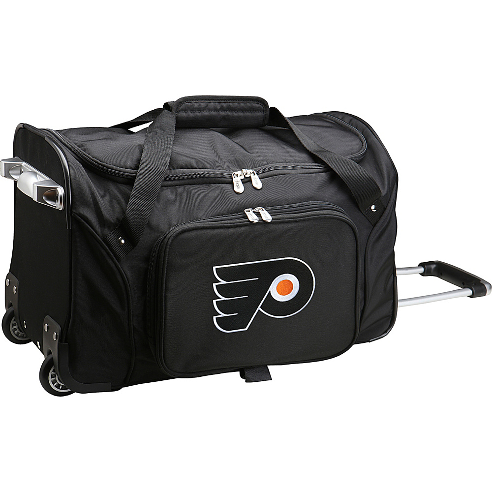 Denco Sports Luggage NHL 22 Rolling Duffel Philadelphia Flyers - Denco Sports Luggage Rolling Duffels - Luggage, Rolling Duffels