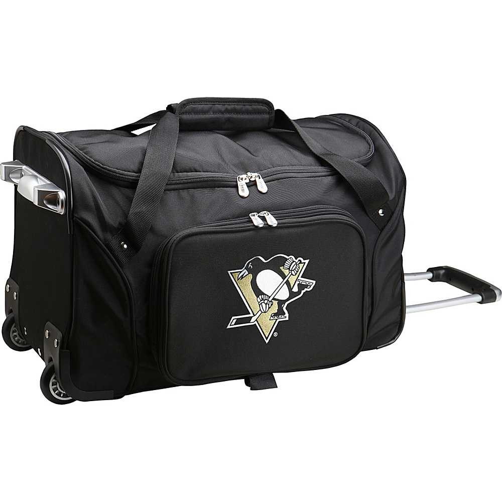 Denco Sports Luggage NHL 22 Rolling Duffel Pittsburgh Penguins - Denco Sports Luggage Rolling Duffels - Luggage, Rolling Duffels