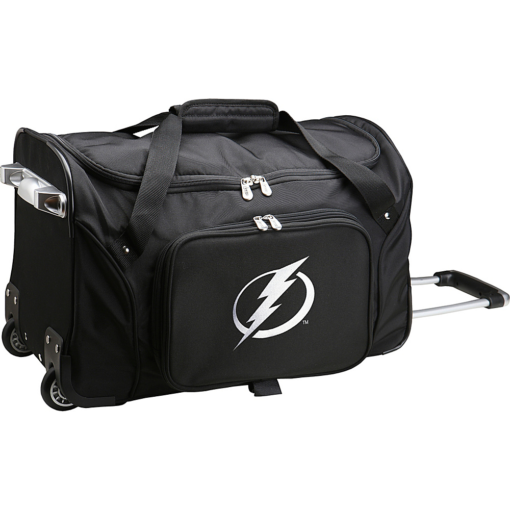 Denco Sports Luggage NHL 22 Rolling Duffel Tampa Bay Lightning - Denco Sports Luggage Rolling Duffels - Luggage, Rolling Duffels