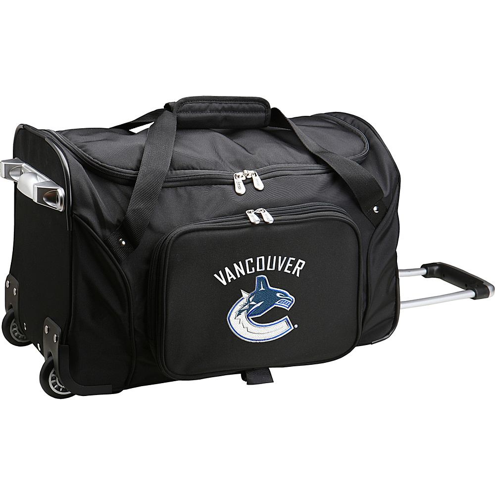 Denco Sports Luggage NHL 22 Rolling Duffel Vancouver Canucks - Denco Sports Luggage Rolling Duffels - Luggage, Rolling Duffels