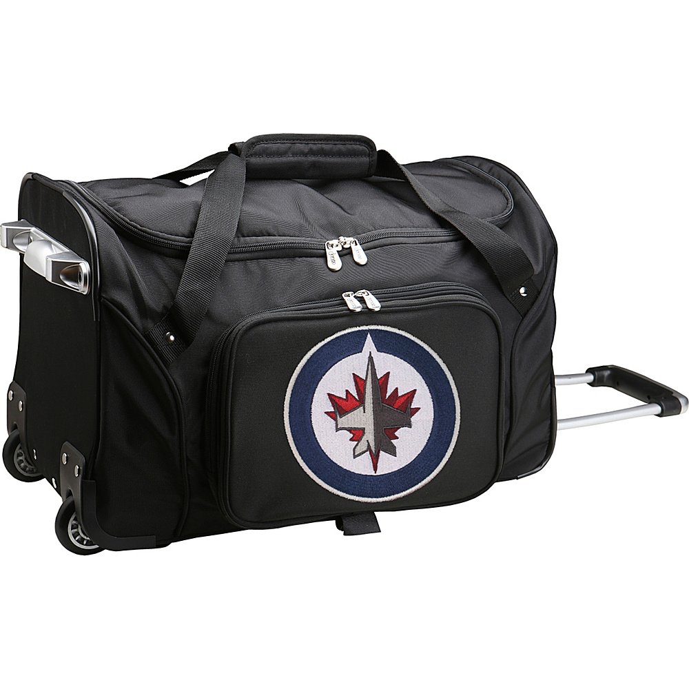 Denco Sports Luggage NHL 22 Rolling Duffel Winnipeg Jets - Denco Sports Luggage Rolling Duffels - Luggage, Rolling Duffels
