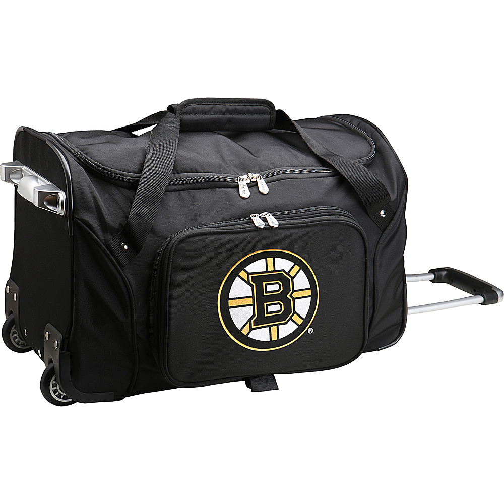 Denco Sports Luggage NHL 22 Rolling Duffel Boston Bruins - Denco Sports Luggage Rolling Duffels - Luggage, Rolling Duffels