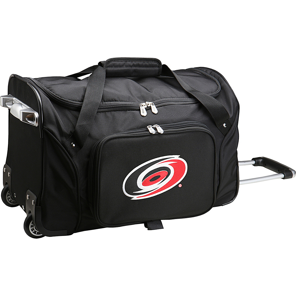 Denco Sports Luggage NHL 22 Rolling Duffel Carolina Hurricanes - Denco Sports Luggage Rolling Duffels - Luggage, Rolling Duffels